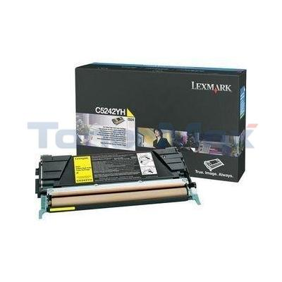 LEXMARK C524 C532 TONER CARTRIDGE YELLOW 5K